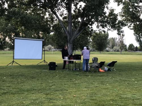 Movie Night at 2019 ARRL Field Day - DCARC at Hooper Park, Utah