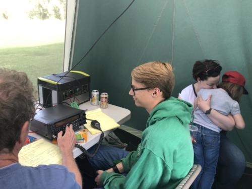 GOTA Station at 2019 ARRL Field Day - DCARC at Hooper Park, Utah